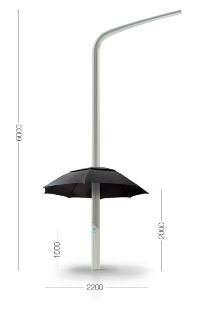 farola paraguas lampbrella
