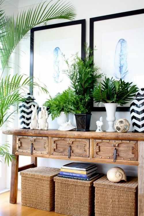 Pequeños detalles para decorar un recibidor