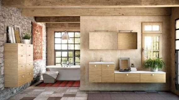El cuarto de baño decorado con encanto