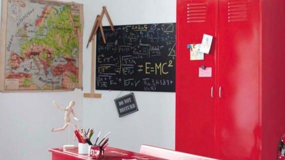 Decoración escuela en su habitación