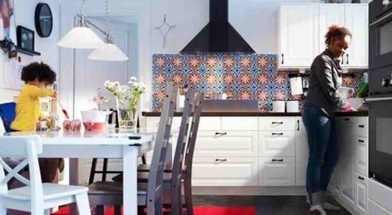 La decoración de la cocina casera