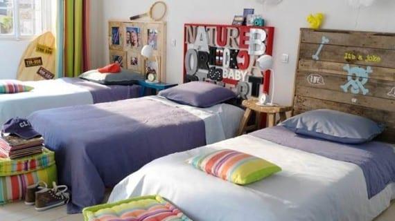 Pequeños espacios: un dormitorio para dos niños