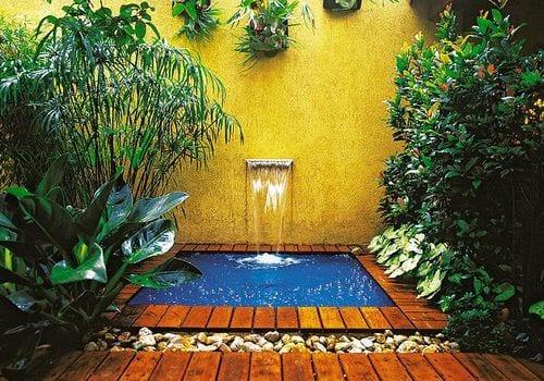 Zonas de relajación decoradas con agua