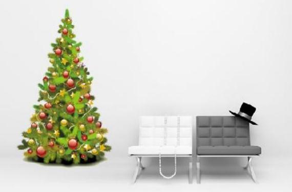 Vinilos de Navidad para decorar las paredes