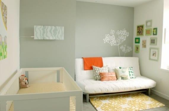La habitación del bebé como estancia para invitados
