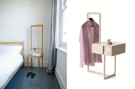 Silla Alfred y mesilla Teca, muebles que también funcionan como galán
