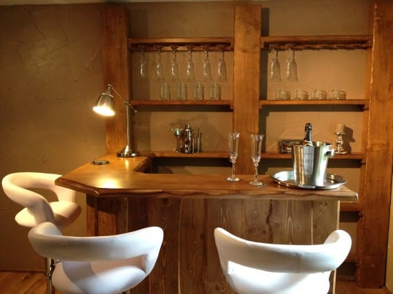 Idea de decoración: cabaña de madera