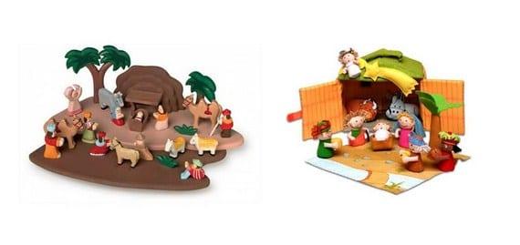 Belenes para niños con lo que pueden jugar