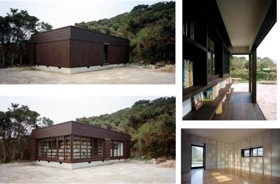 Book house diseñada por Nendo