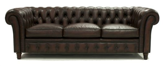 Chester MooiMaak en marrón chocolate  Sofá Chester, diseño vintage en permanente tendencia