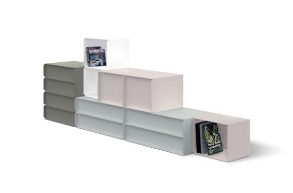 Mueble contenedor Collar, diseño del equipo Nendo para la firma Quodes