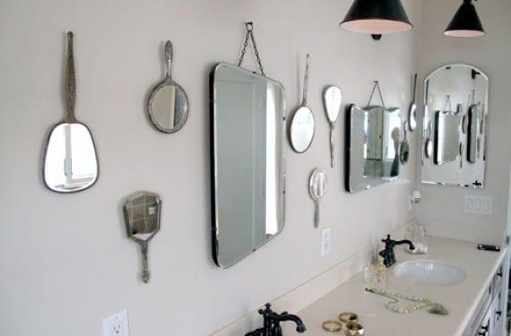 Espejos antiguos para decorar un baño