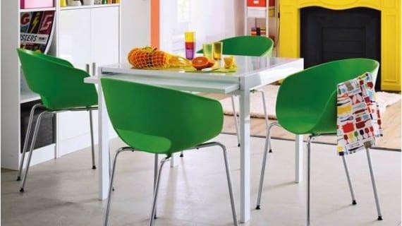 10 comedores para espacios peque os for Mesas para espacios pequenos