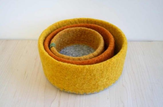 Bowls de fieltro diseño de Papaver Vert