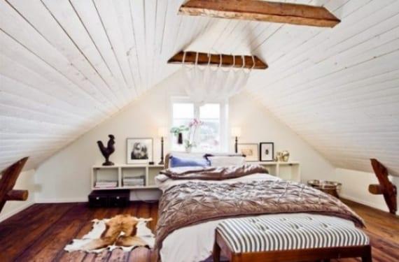 Estilo cozy en un dormitorio nórdico