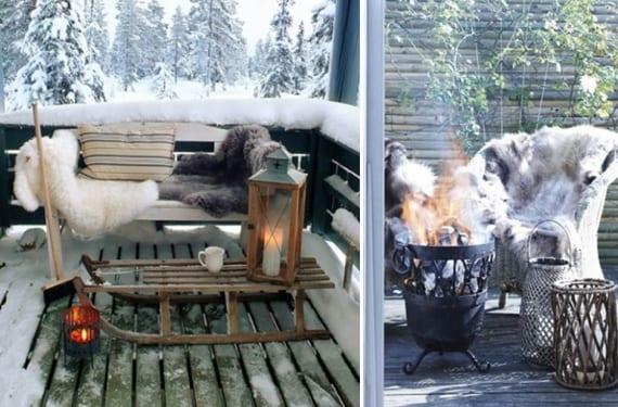 Complementos de terraza para el invierno