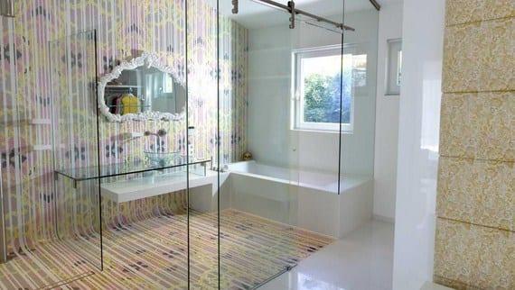 Papel de pared luxe para el baño