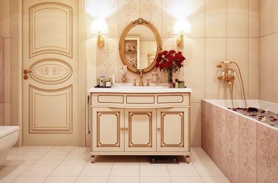 Baño de inspiración rusa