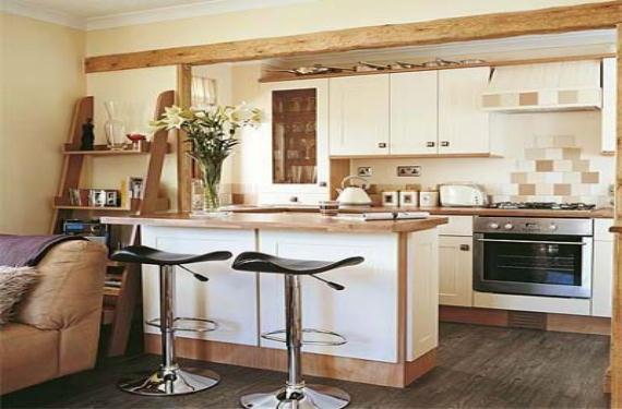 Cocinas americanas una soluci n para pisos peque os for Decorar casa 45 m2