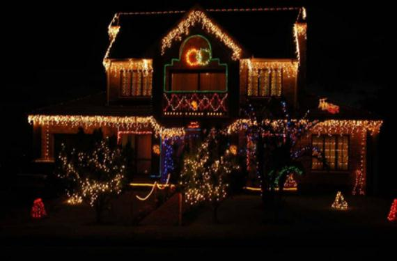 decoración exterior navidad