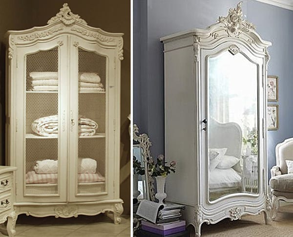Decorar con armarios antiguos - Muebles restaurados vintage ...