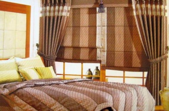 Mezcla de estores y cortinas en un mismo espacio