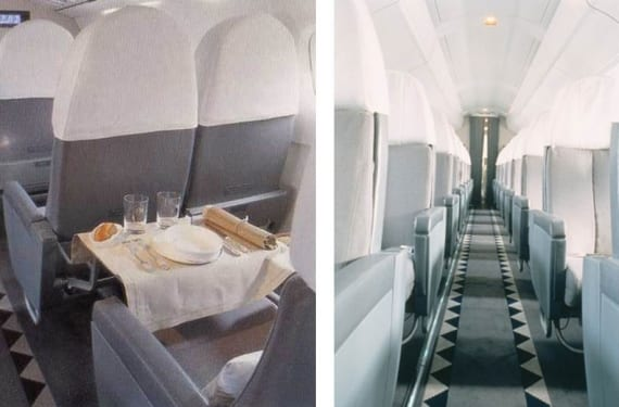 Diseño de interiores para el Concorde