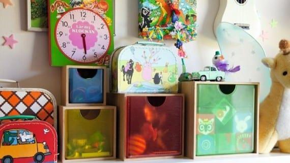 cuatro cajas para guardar juguetes