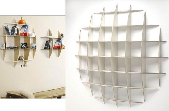 Porta Cds cóncavo modelo DIY en madera y blanco
