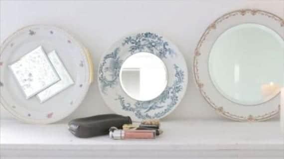 Decora los platos con espejos
