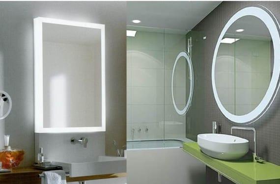 Iluminar el espejo del ba o - Iluminacion espejos bano ...