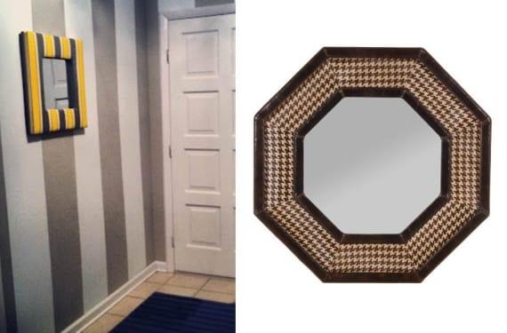 Espejos con marco tapizado