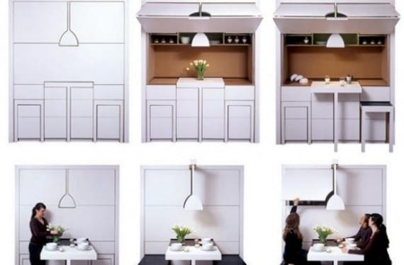 Grandma, cocina compacta que se abre y cierra según la necesidad