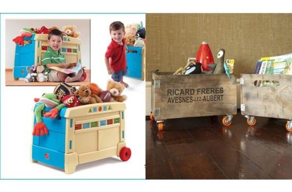 Módulos de almacenaje infantil en madera