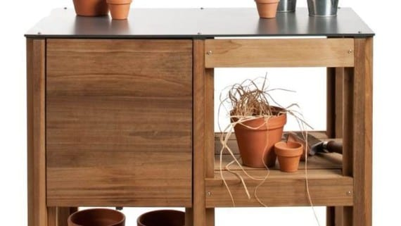 Mesa multifuncional para el jardin