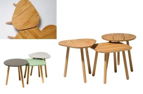 Conjunto de mesas auxiliares Bruse de la firma sueca Rumbler