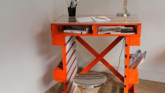 Palets para hacer un escritorio de oficina