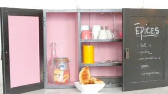 Renovar los armarios de la cocina con pizarras antiguas