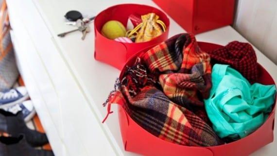 Una cesta para bufandas