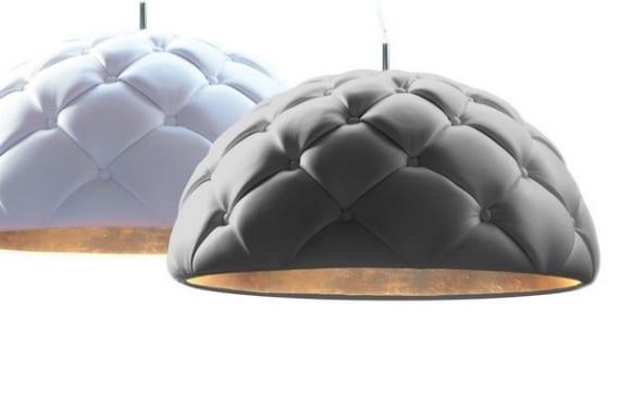 Lámparas Clamp revestidas en cuero, diseño de DZ Studio
