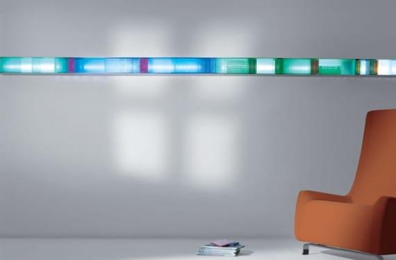Serie de porta Cds de pared modelo Lalinea, con luz integrada