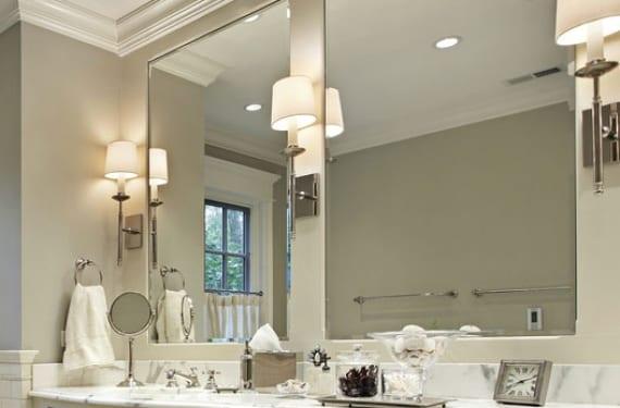 Iluminar el espejo del ba o - Lamparas para espejo de bano ...