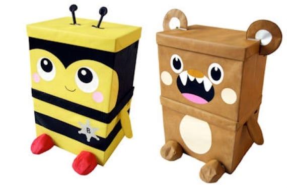 Cajas de almacenaje en forma de animales