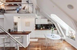 Apartamento con altillo de estilo nórdico