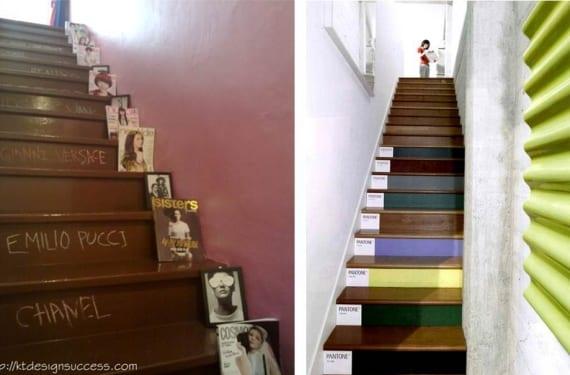 Elementos decorativos para escaleras