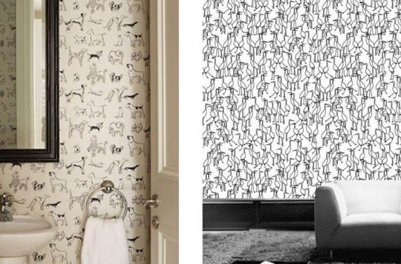 Papeles pintados en blanco y negro