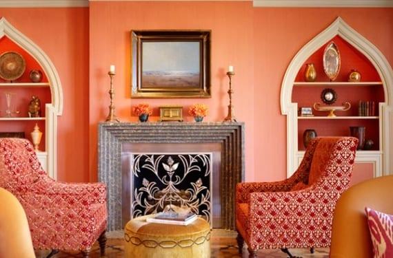 Salón árabe decorado en coral