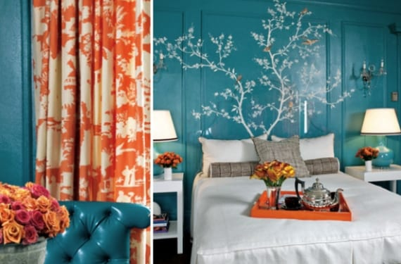 Decoraci n vitalista en tonos coral - Decoracion en tonos turquesa ...