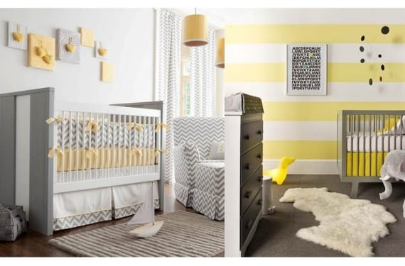 Nurseries en amarillo y gris