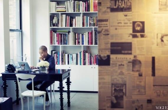 Jason Wu en su estudio/atelier